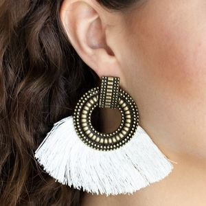 Brass earrings paparazzi